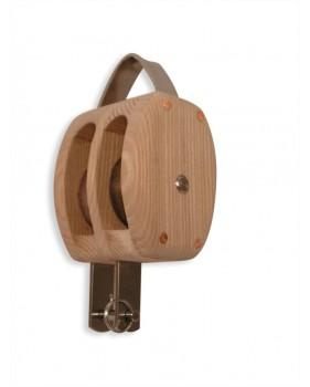 Poulie en bois traditionnelle HAVRAISE double à ringot