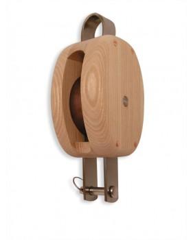 Poulie en bois traditionnelle HAVRAISE simple à ringot