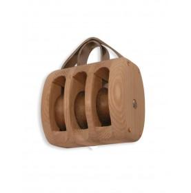 Poulie en bois traditionnelle HAVRAISE triple