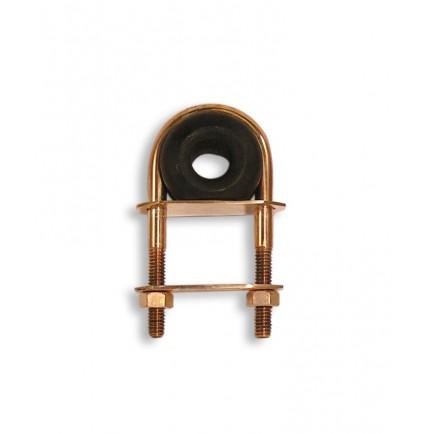Filoir d'écoute en bronze et gaïac sur tige filetée