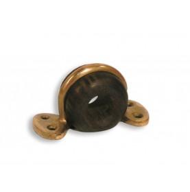 Filoir d'écoute en bronze et gaïac en applique