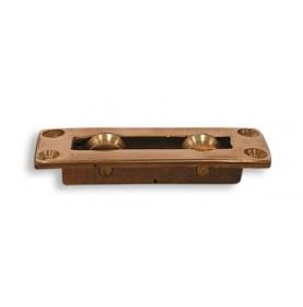 Poulie à plat pont double en bronze