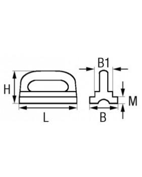 Cotes coulisseau de mat pour rail en creux
