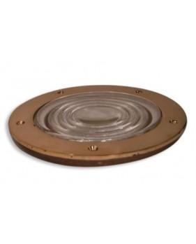 Verre à prisme rond et cadre bronze