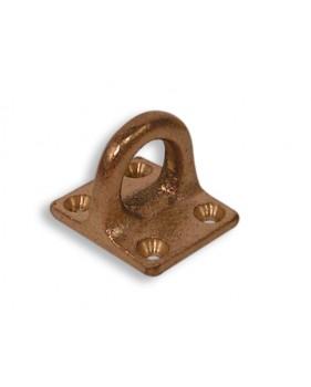 Pontet sur platine carrée en bronze