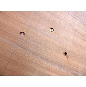 Vis bois bronze tête plate fraisée 10mm
