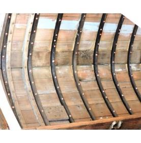 rivets en cuivre pour les membrures d'un bateau en bois