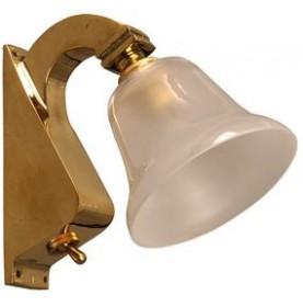 LAMPE TULIPE LAITON AVEC INTERRUPTEUR