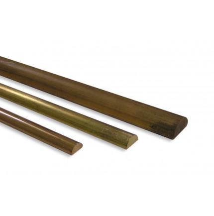 BANDE MOLLE LAITON 1/2 ROND EN 2,5M (3M POUR 10X5)