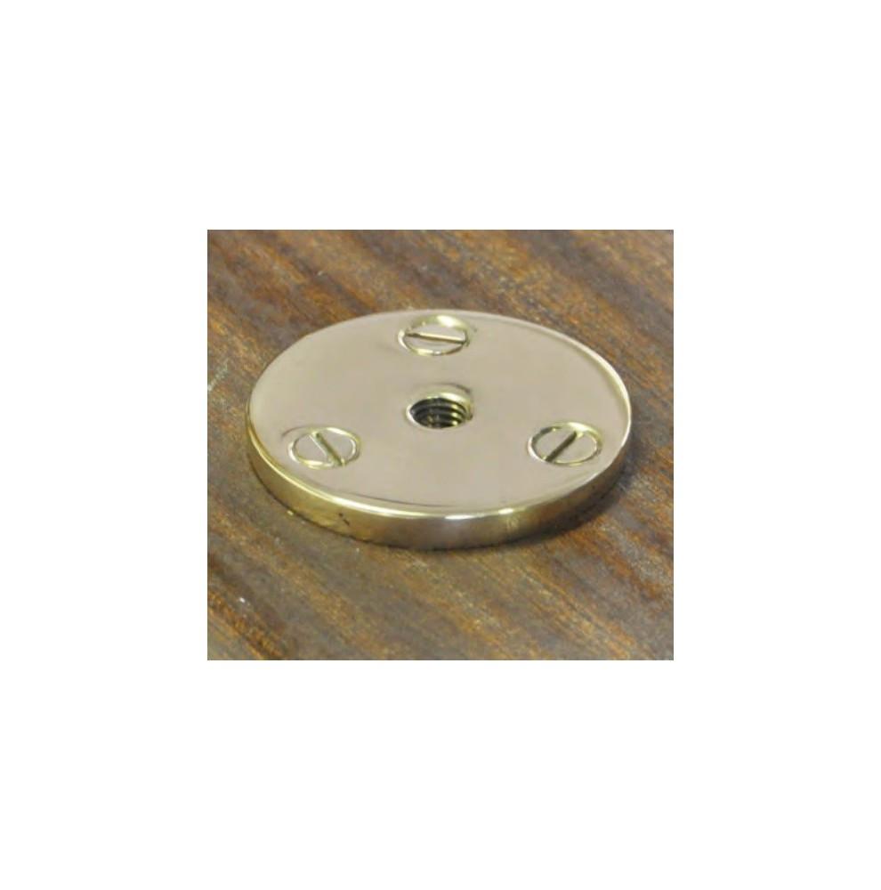 Base en bronze pour filoir, piton, pad-eye amovibles