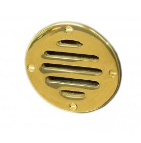 Petite grille d'aération ronde en laiton 83 mm