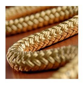 Cordage en polyester tressée banc ou bronze
