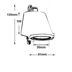 LAMPE DE CABINE AVEC INTERRUPTEUR/LAITON