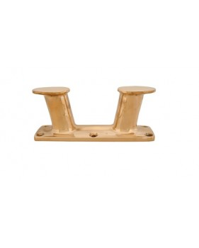 Bollard en bronze incliné