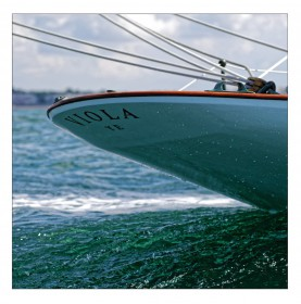 proue du bateau rochelais VIOLA
