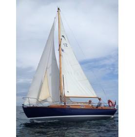 bateau bois gréement Sloop, JEZEQUEL