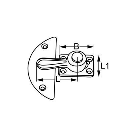 CROCHET A VISSER LAITON 36 MM