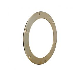 Round decklight frame in brass