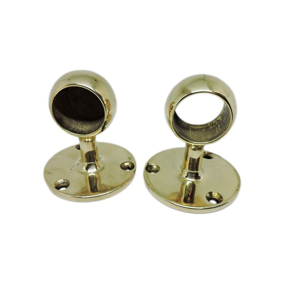 Brass hand rail brackets