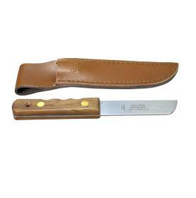 Mini couteau de gabier manche en bois et étuis