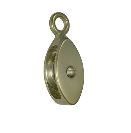 Small brass block for 6 or 10mm ropes