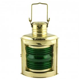 Réplique décorative de lanterne de navigation verte
