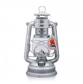 Hurricane lamp in galvanised steel