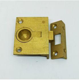 Brass flush spring catch 50x40mm