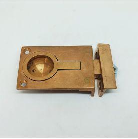 Poignée cuvette à pêne et gâche en bronze 41x60mm