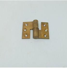 Petite paumelle en laiton 56x41mm