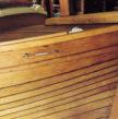 bateau bois apres passage du vernis Coélan