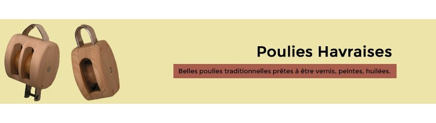 Poulie bois traditionnel la havre
