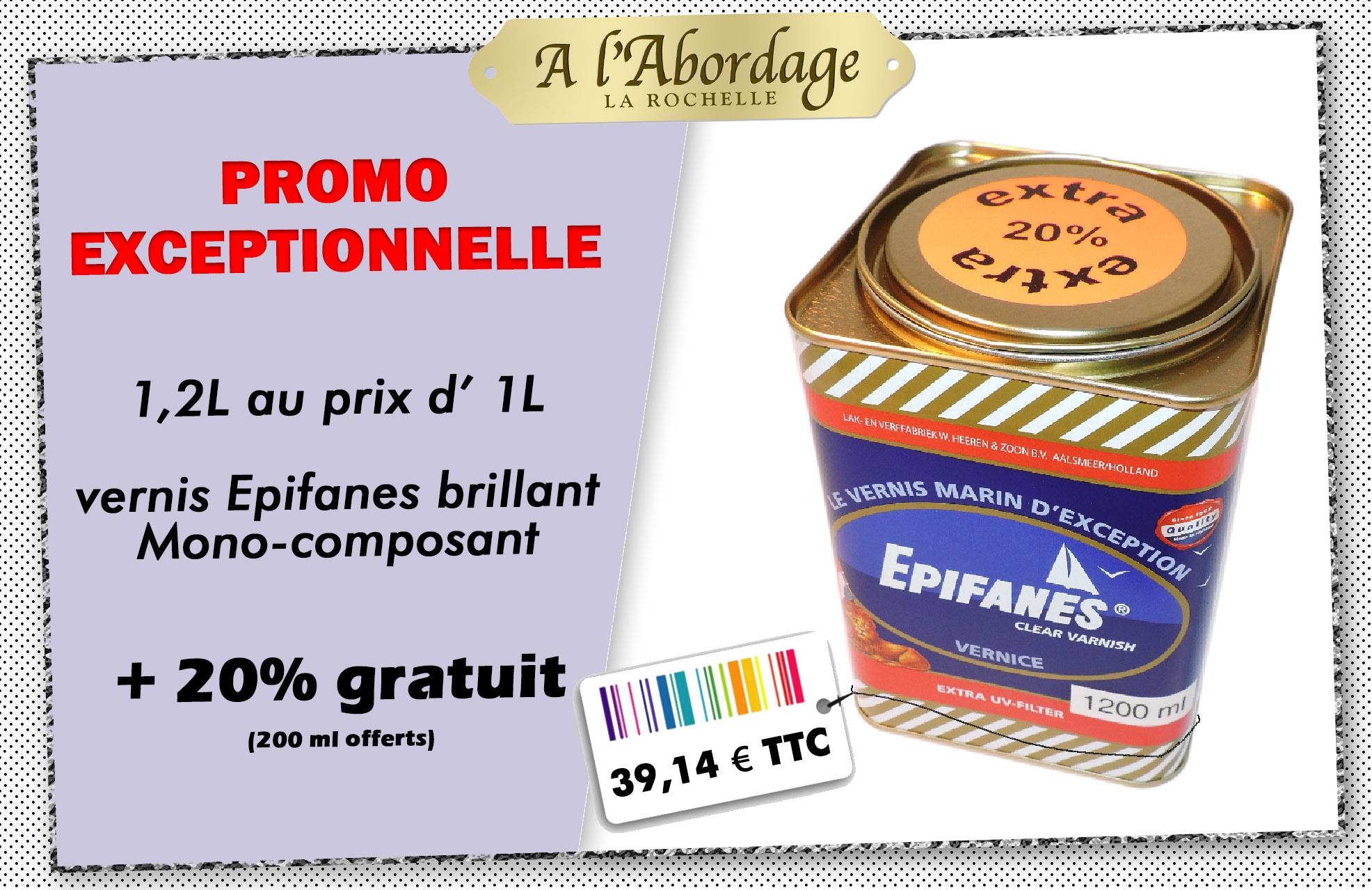 visuel de promotion du vernis epifanes monocomposant : 1.2L au prix d'1L.